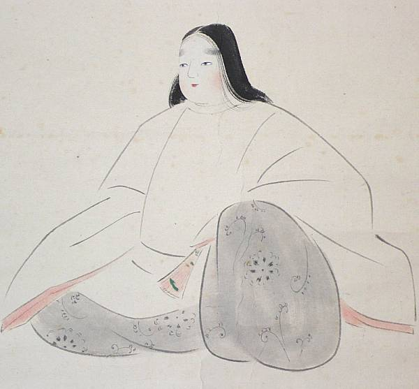 【掛け軸】 菊池契月 「聖徳太子」 横幅 象牙軸 長野県の日本画家