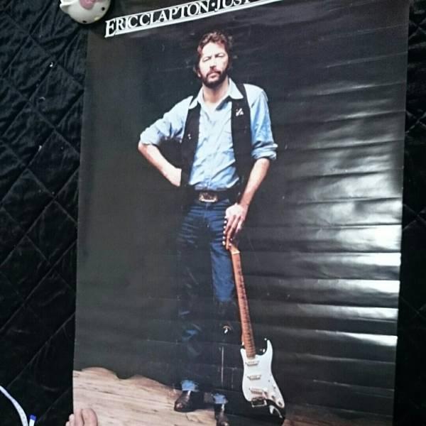 エリッククラプトン JUST ONE NIGHT ポスター 年代物 レトロ ライブグッズの画像