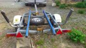 ★中古軽ボートトレーラーSUNTREX TB-02書類完備 車検切れ 自動車税納入済み 現状渡し 引き取り限定★