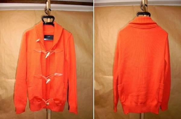 AKM pima cotton shawl toggle cardigan オレンジS_画像2