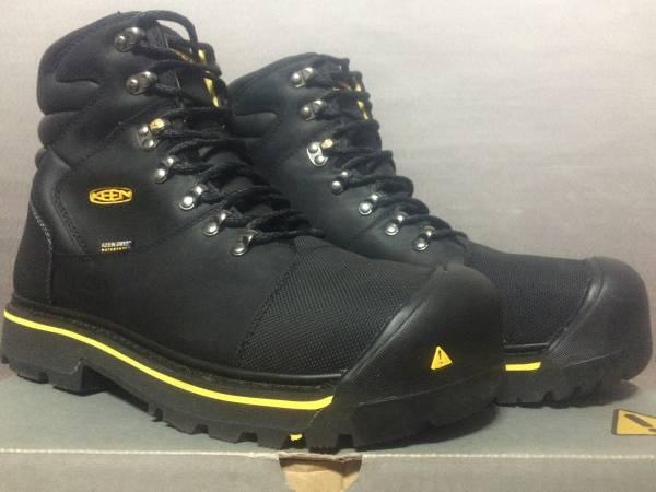 新品 KEEN UTILITY Milwaukee WP 29.5cm EE Black キーン ミルウォーキー 防水 ワークブーツ ブラック ブーツ スチールトゥ 安全靴 1009173