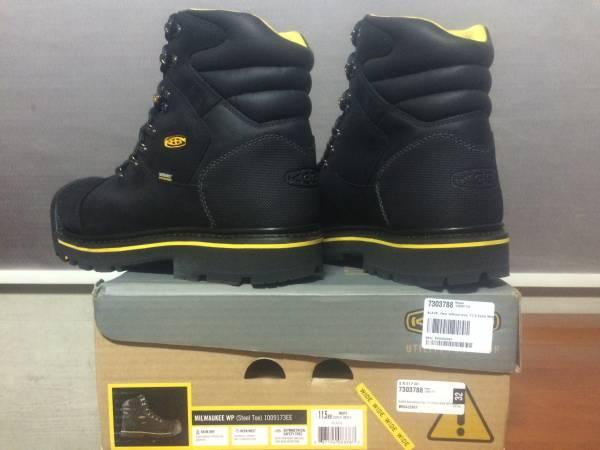 新品 KEEN UTILITY Milwaukee WP 29.5cm EE Black キーン ミルウォーキー 防水 ワークブーツ ブラック ブーツ スチールトゥ 安全靴 1009173_画像3