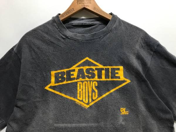 墨黒! 80s BEASTIE BOYS Tシャツ Def Jam ビースティーボーイズ ビースティ USA ビンテージ HIPHOP RUN DMC PUBLIC ENEMY raptees 2pac