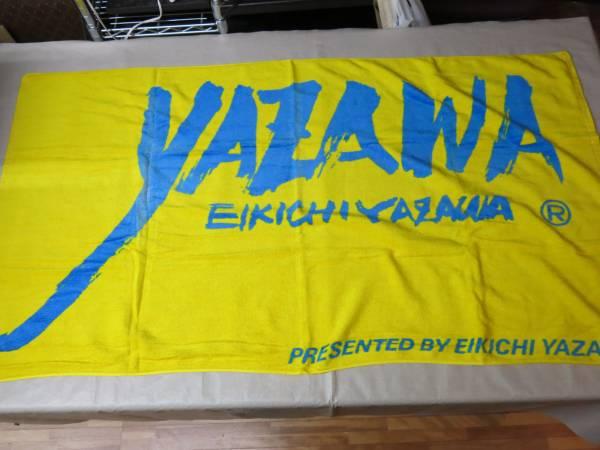 V668矢沢永吉ビーチタオル 筆ロゴ 黄色 ライブグッズの画像