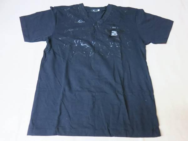 V672矢沢永吉Tシャツ 黒 星がいっぱい  ライブグッズの画像