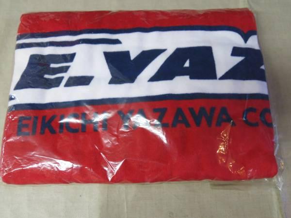 V122矢沢永吉ビーチタオル It's Only YAZAWA 袋付き 赤 羽ロゴ ライブグッズの画像