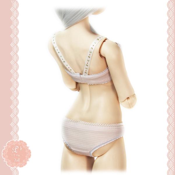 ガールズブラ & ショーツ M胸 ピンク系(レディースインナー生地使用)-170519-_画像2