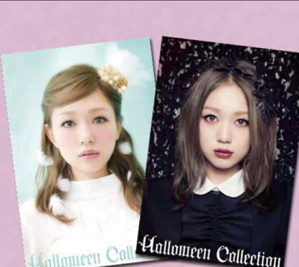 残り1つ!!西野カナ Halloween Collection チェンジング ポストカード 2枚セット 2014 ハロコレ ツアーグッズ ライブグッズの画像