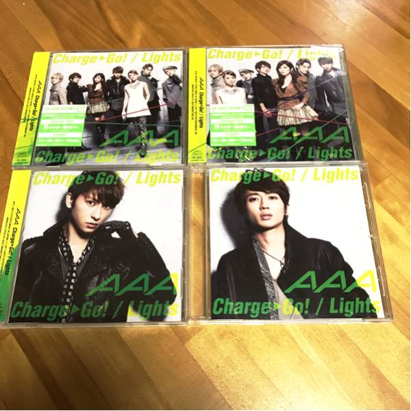 AAA CD セット Charge Go!/Lights DVD付 mu-mo限定盤 西島隆弘 與真司郎 浦田直也 宇野実彩子 日高光啓 末吉秀太 ライブグッズの画像