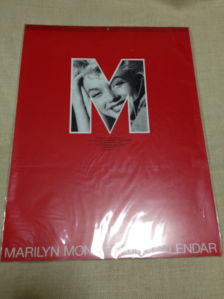 マリリンモンロー未使用カレンダー グッズの画像