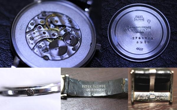 ♪♪PATEK PHILIPPE パテックフィリップ カラトラバ Ref.3520 K18WG ホワイトゴールド 手巻 ♪♪_画像3