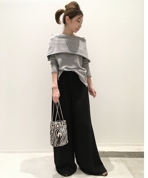 今期★L'Appartement DEUXIEME CLASSEアパルトモン◇ワイド タック パンツ★美品