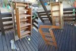 はしご 階段  折りたたみ式 収納  天井 引き降ろし式 木製梯子