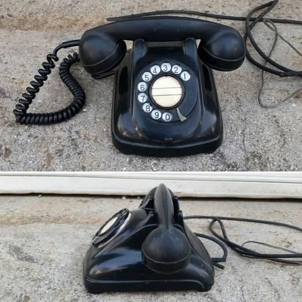 当時物♪4号A型 黒電話 昭和/レトロ/古道具