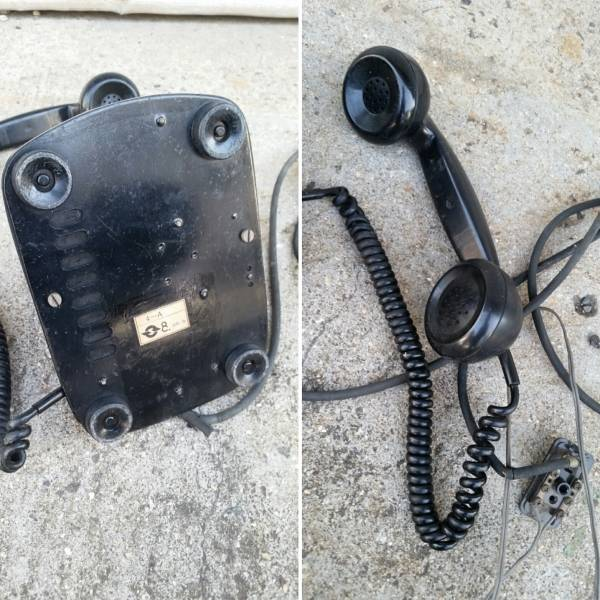 当時物♪4号A型 黒電話 昭和/レトロ/古道具 _画像3