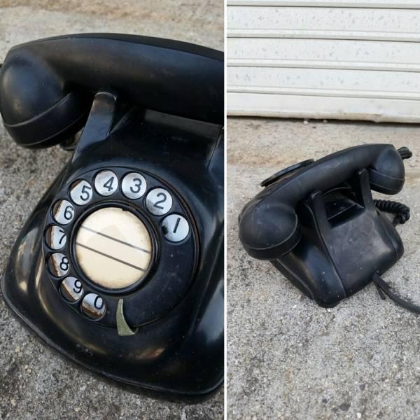 当時物♪4号A型 黒電話 昭和/レトロ/古道具 _画像2