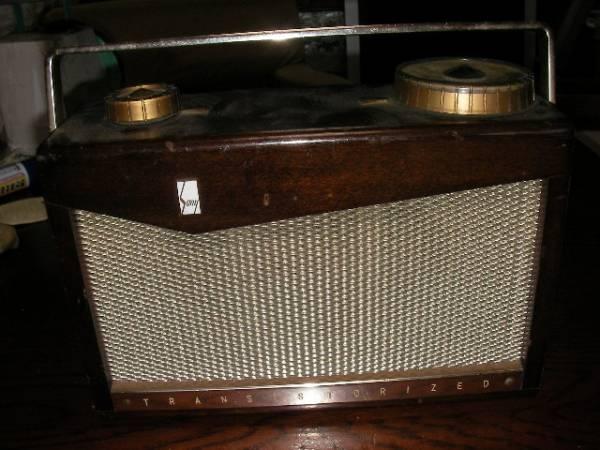 昭和レトロ ソニートランジスターラジオ TR-72 7TRANSISTTOR SUPER HET SONY TR-72 ジャンク品 ラジオ部品