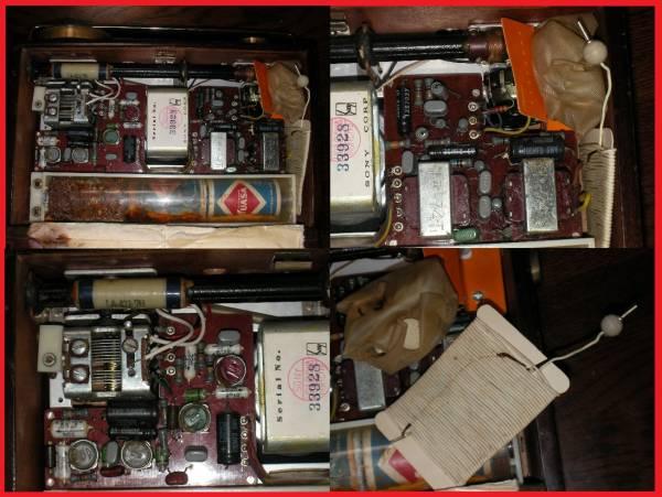 昭和レトロ ソニートランジスターラジオ TR-72 7TRANSISTTOR SUPER HET SONY TR-72 ジャンク品 ラジオ部品_画像3
