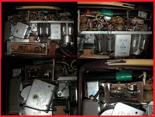 昭和レトロ ナショナル真空管ラジオ NATIONAL ジャンク品 ラジオカバー有り ラジオケース ラジオ部品_画像3