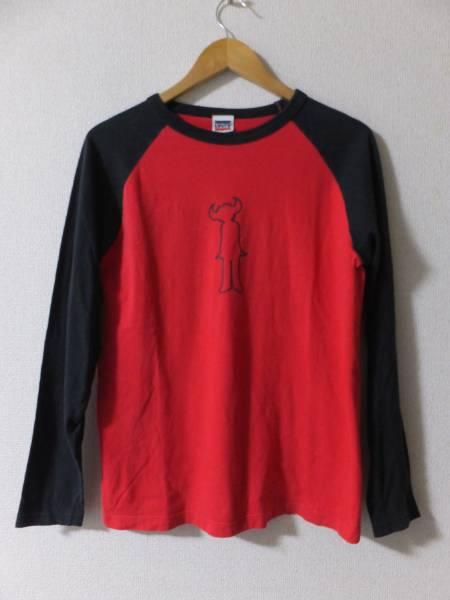 ジャミロクワイ リーバイス 長袖Tシャツ ラグラン ロンT カットソー S 赤黒 サチモス Suchmos