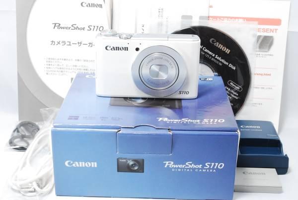 ★美品★キャノン Canon PowerShot パワーショット S110 ホワイト FULL HD Wi Fi 1210万画素