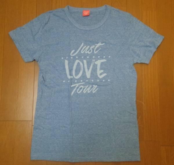 送料無料!西野カナ Just LOVE tour Tシャツ L 青色 水色
