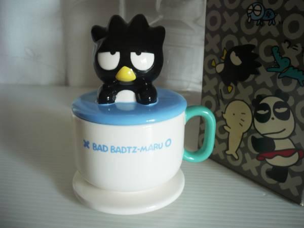 1998年 バッドばつ丸 カップ型小物入れ 陶器製 BAD BADTZ-MARU プライズ品 激レア オレタチワルダッチーズ グッズの画像