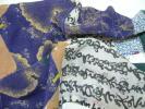 20.昭和レトロ●昔の縮緬 正絹 古布 はぎれ●パッチワーク
