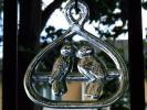北欧雑貨 ヴィンテージ 鳥のサンキャッチャー オーナメント 小鳥のカップル (検索:Holmegaard ホルムガード,Boda ボダ)