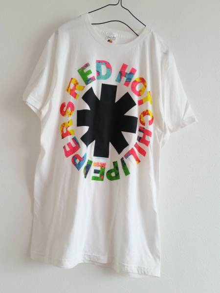 """RED HOT CHILLI PEPPERS"" Asterisk Circle Logo Print T-shirt RHCP Rock Band レッチリ ロックT バンドT ロゴ オフィシャル Tシャツ"