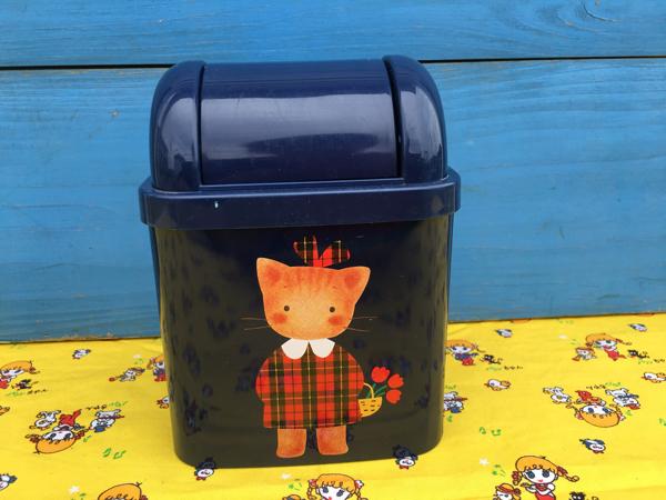 90年代 サンリオ ウィンキーピンキー スチール ゴミ箱 winki pinki レトロ オールド グッズの画像