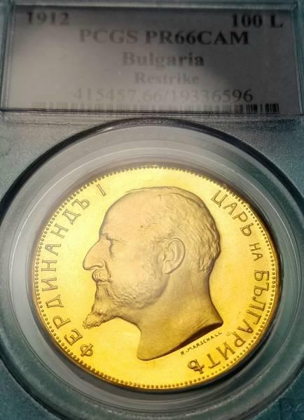 ☆ブルガリア/1912/100レフ金貨/PCGS/PR66 CAM/本物保証_画像3