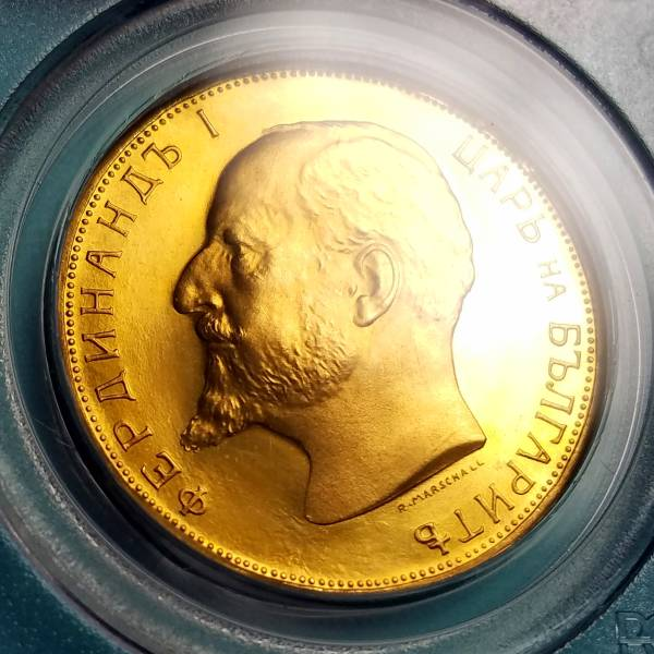 ☆ブルガリア/1912/100レフ金貨/PCGS/PR66 CAM/本物保証_画像1