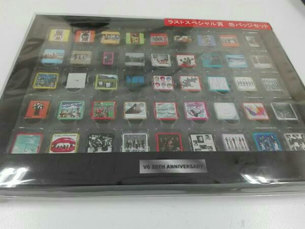 V6 20th ANNIVERSARY ラストスペシャル賞 缶バッジセット コンサートグッズの画像