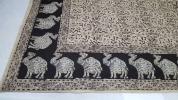 ●インド産●長方形マルチカバー●180×270cm●ラクダ柄●ベットやソファーのカバーにいかがですか~♪●