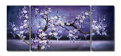 アートパネル 『夜桜Ⅱ』 30x60cm他、計3枚組 肉筆