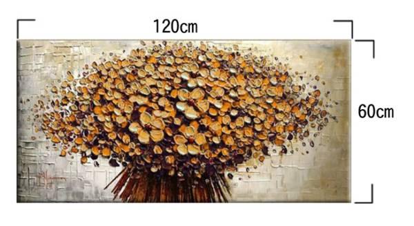 アートパネル 『フラワー・ブーケ(黄)』 60x120cm x 1枚 肉筆 お店のディスプレイ インテリア_画像2