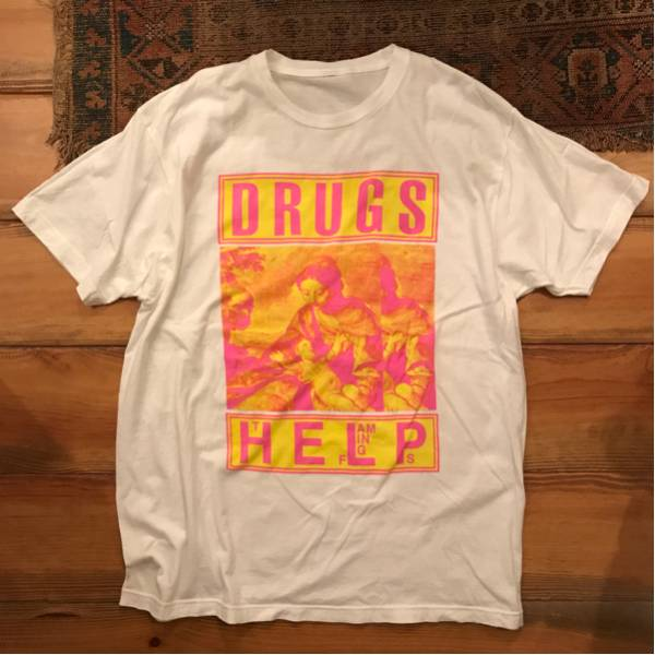 FLAMING LIPS DRUG HELP ロック Tシャツ