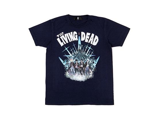 ■即決 Lサイズ Tシャツ THE LIVING DEAD ネイビー BUMP OF CHICKEN グッズ 新品 バンプオブチキン リビングデッド / タオル キャップ