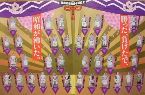 ★昭和の大相撲歴史&昭和の全取り組み星取表資料2冊組 グッズの画像