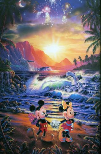 Disney Fine Art ディズニーファインアート ミッキー ミニー 限定 レア クリスチャン・ラッセン