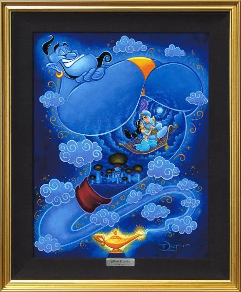 Disney Fine Art ディズニーファインアート アラジン ジーニー 限定 レア