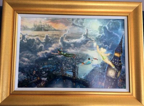 Disney Fine Art ディズニーファインアート ピーターパン 限定 レア Thomas Kinkade ディズニーグッズの画像