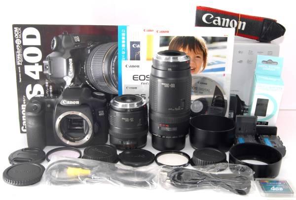 ●付属品多数● Canon キャノン EOS 40D 純正&超望遠Wレンズ