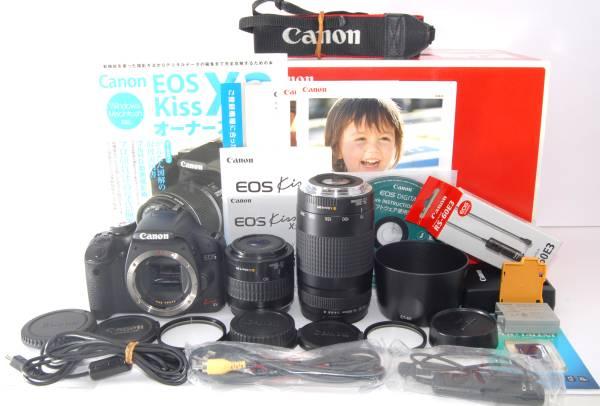 ●付属多数● Canon キャノン EOS Kiss X3 純正&超望遠Wレンズ