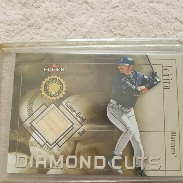 レア☆ FLEER 2001 イチロー/Ichiro バットカード/MLB card/Game Used Bat/DIAMOND CUTS/AUTHORITY BASEBALL マリナーズ グッズの画像
