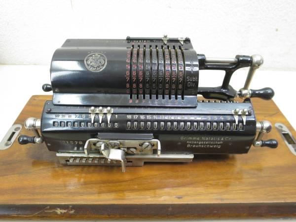 NE4I/Brunsviga-Midget ドイツ製 アンティーク 手動式 計算機 ブルンスビガ