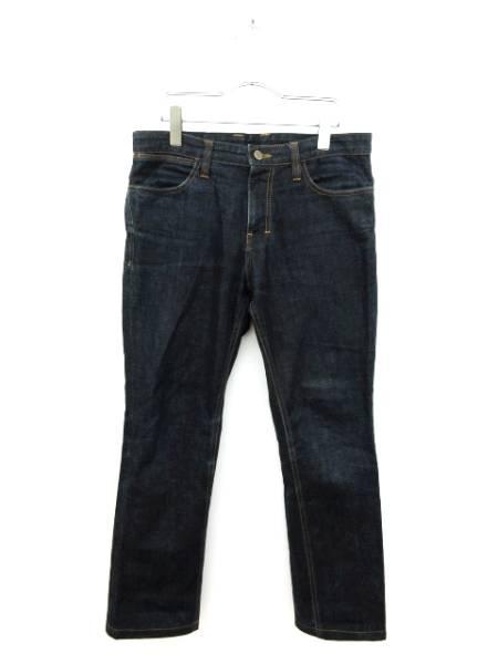 ウーヨンミ wooyoungmi パンツ デニム ジーンズ ストレート 46 紺 ネイビー メンズ