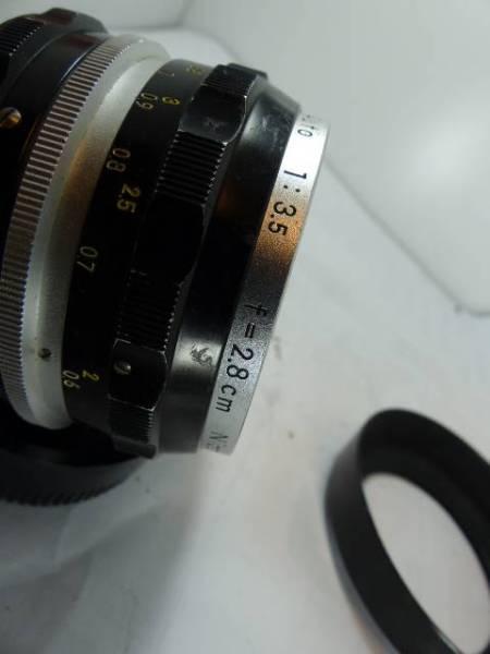 レアNikkor-H 2.8㎝F3.5 メタルフードHN-2付_画像3