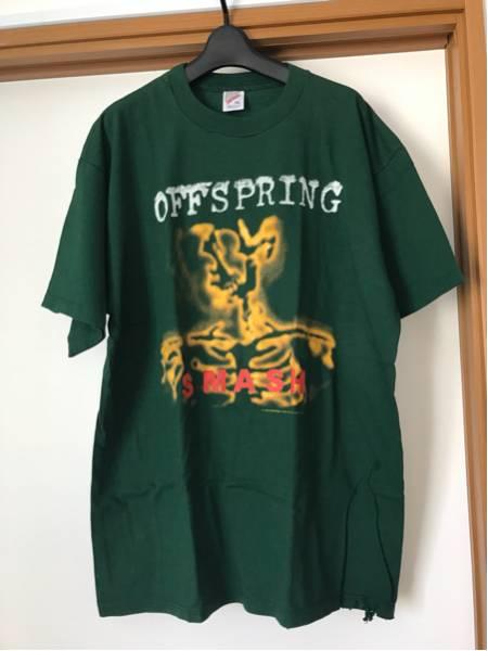 off spring smash 緑 Tシャツ バンドT 90s ビンテージ 難あり 中古 古着 レア 年代物 貴重 サイズXL ビッグサイズ